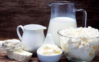 Содержание холестерина в молочных продуктах (молоко, творог, кефир, сметана, топлёное масло)