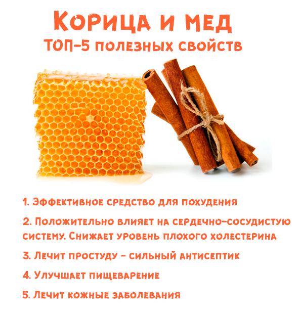 Полезные свойства корицы и меда