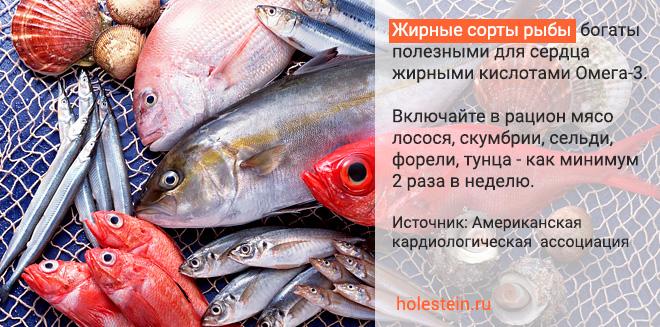 Какую рыбу есть при повышенном холестерине