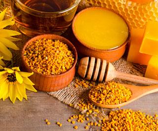 Продукты пчеловоства от сосудов ног