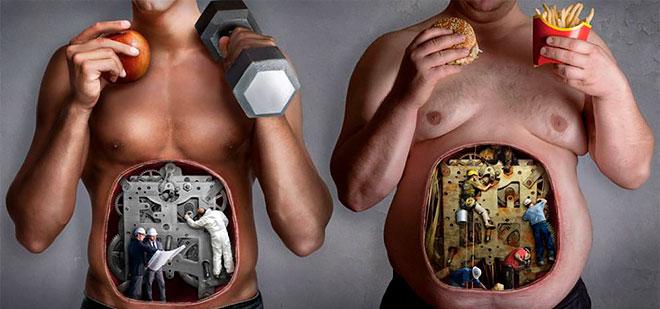 Плохое питание и лишний вес