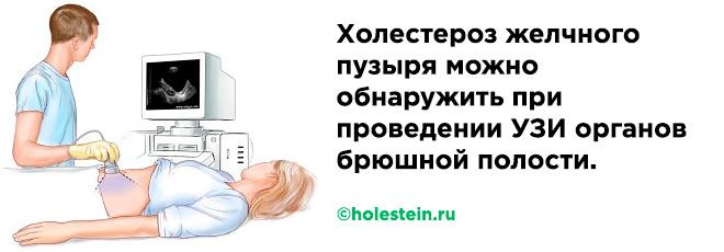 Диагностика холестероза желчного пузыря