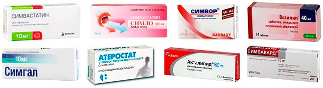 Таблетки с Симвастатином