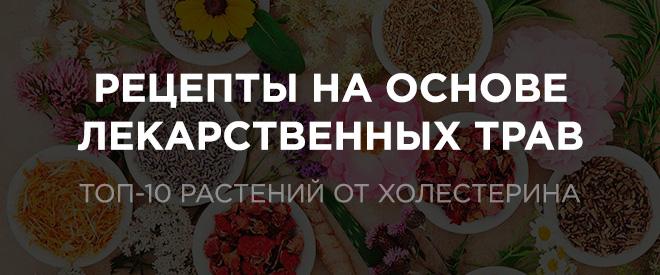 Народные рецепты от холестерина (травы)