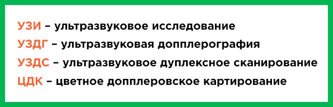 Расшифровка УЗИ, УЗДГ, УЗДС и ЦДК